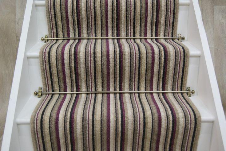 Cambridge Raspberry Stripe Stair Runner 7x065m Mum
