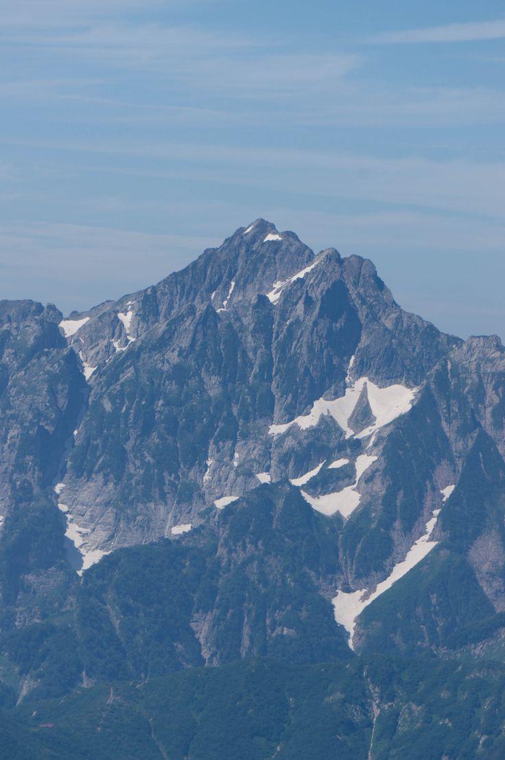 唐松岳から剣岳の方面