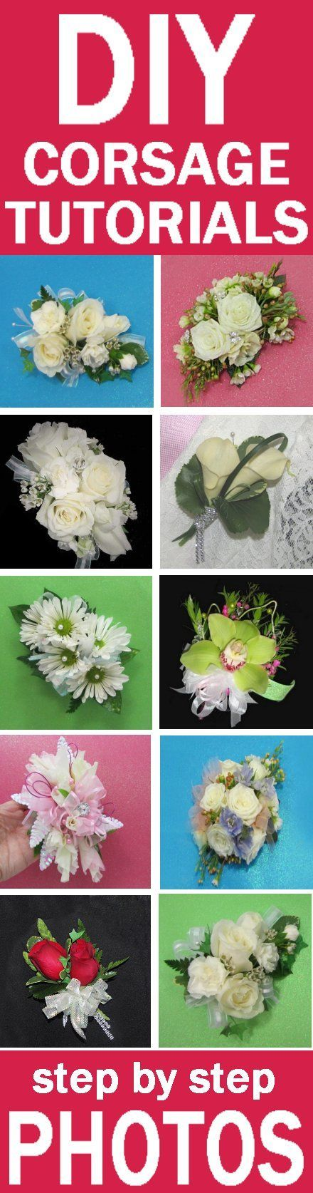 Make Your Own Wedding Flowers - Easy Tutorials Learn how a florist makes corsages, boutonnieres, bridal bouquets, church decorations and reception centerpieces.