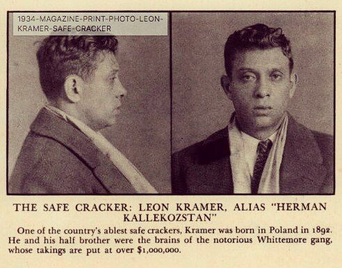 Leon was a busy boy.  #safecracker #safecracking #nostalgia #nostalgic #security #design #lock #key #filmnoir #crime #truecrime #tools #machinist #mechanic #vintage #photography #jewelry #rubies #highsecurity #mugshot #photography #police  #detective #gold  #silver #cop #cops #police #