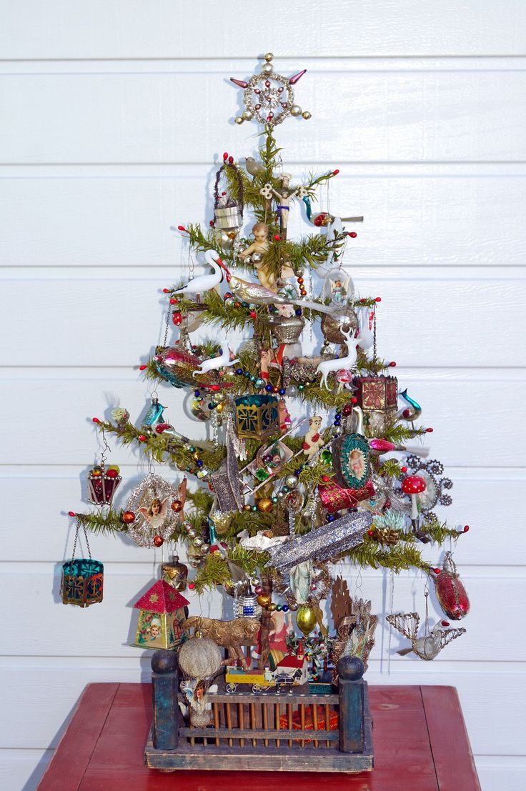 17 Best images about Antique Christmas, Feather trees ...