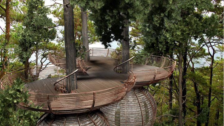 Tree house designed by Antony Gibbons
