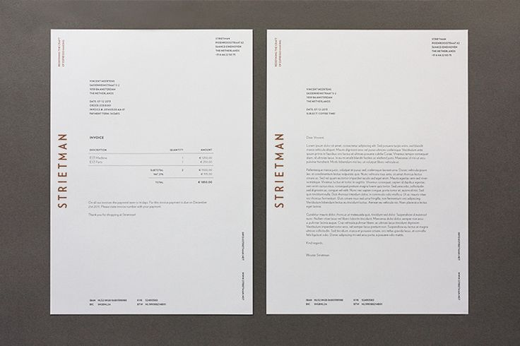 Wow - every piece in this is great but the letterhead really shines - Strietman Collateral