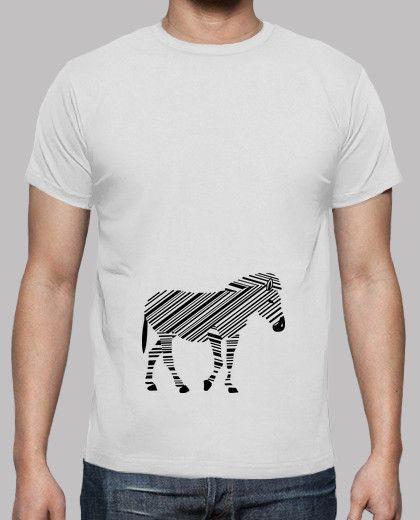 f57609bceac Camiseta blanca para chico personalizada con cebra, mangas cortas, 100%  algodón. Eres