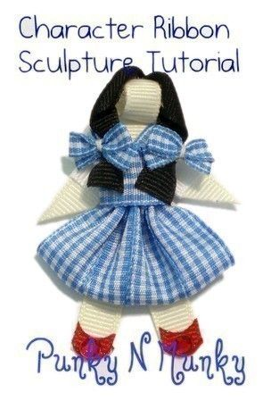 Character Ribbon Sculpture Figure Tutorial INSTANT DOWNLOAD.