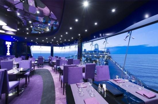 #MSCPreziosa - Galaxy Lounge, purple decor at it's best