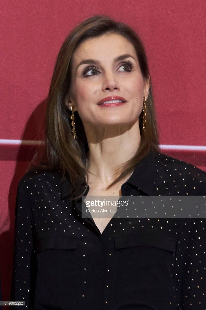 Queen Letizia of Spain attends tribute concert 'In Memoriam' for terrorism victims at the Auditorio Nacional de Musica on March 8, 2017 in Madrid, Spain.