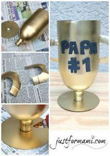 Aprende cómo hacer un trofeo de regalo para el día del padre ~ lodijoella
