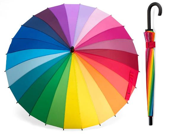 Color wheel umbrella!! How awesome is this?? WANT!!! @Danielle Lampert Stratford