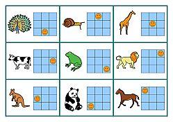 tableaux codé consignes animaux. Le logix avec des animaux (première étape)