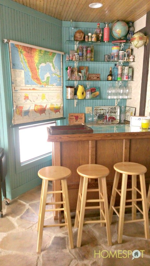 tie together the map shade with globes and other cartography themes around the bar!
