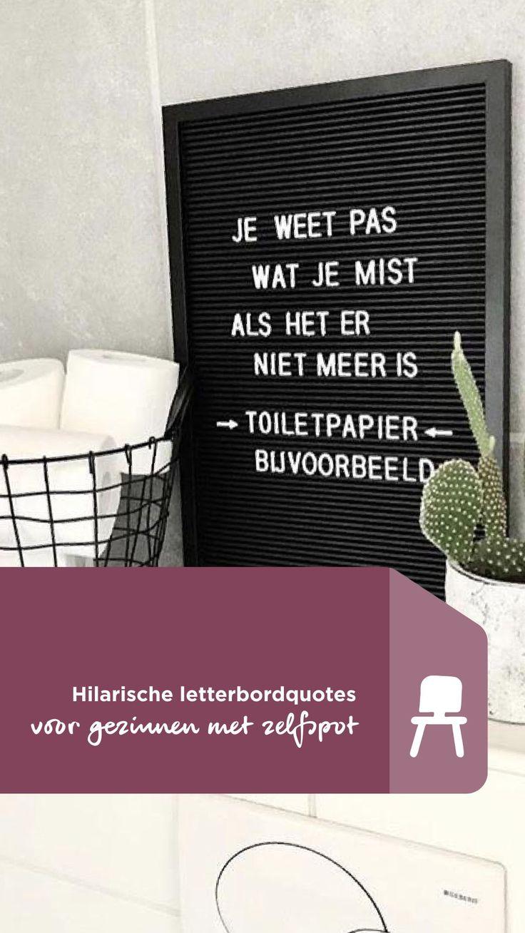 Hilarische letterbordquotes voor gezinnen met zelfspot | Humorous quotes for famili…