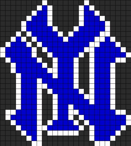 yankee logo1 perler bead pattern    bead sprite