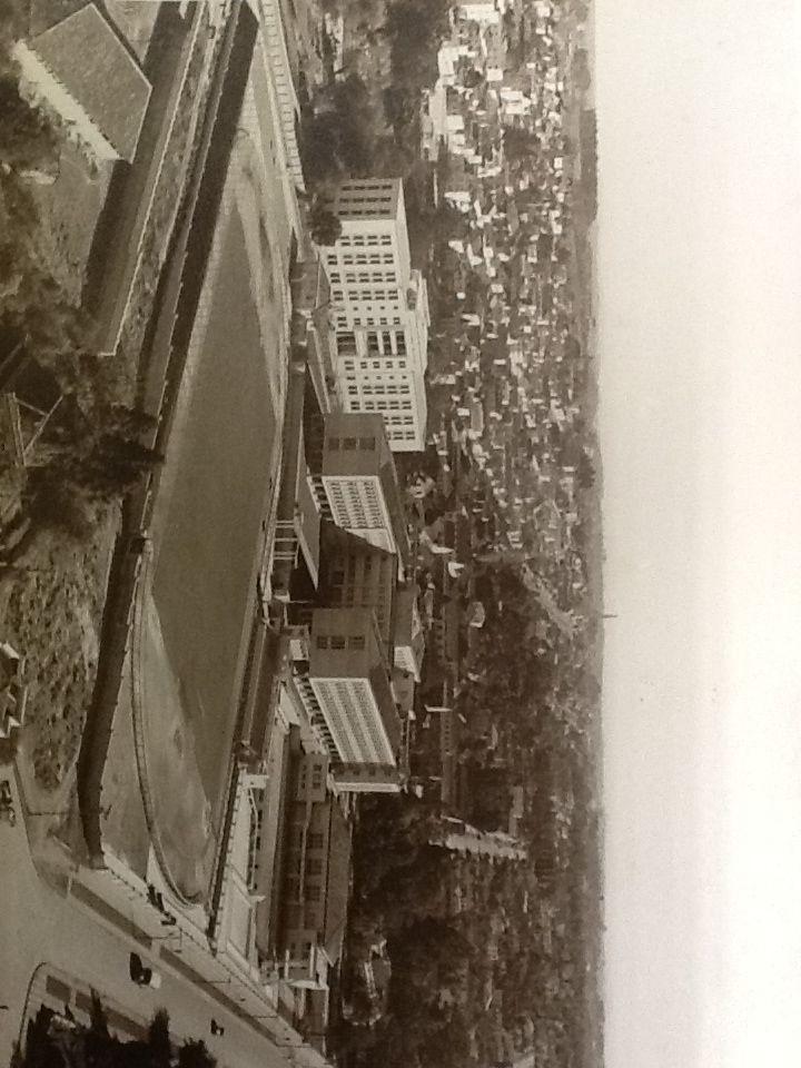Vista aérea Colégio Estadudal Paraná década de 60.