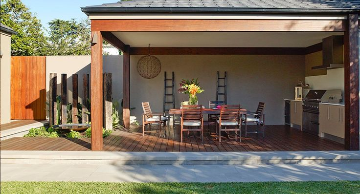 Despite space restrictions, the garden comprises three distinct zones – pavilion, lawn and pool – that can each be put to use at the same time | Home Beautiful Magazine Australia