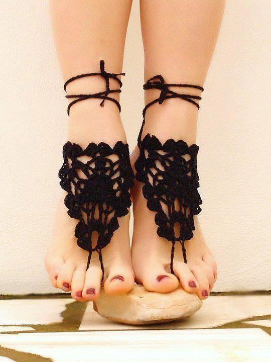 """""""SEGREDOS DA ARTE"""": Croche para os pés"""