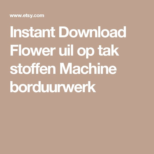 Instant Download Flower uil op tak stoffen Machine borduurwerk