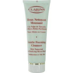 Clarins by Clarins: GENTLE FOAMING CLEANSER WITH TAMARIND & PURIFYING MICRO PEARLS ( COMBINATION/ OILY SKIN ) --/4.4OZ - http://womensfragrancesperfumes.com/beauty/bath-body/cleansers/clarins-by-clarins-gentle-foaming-cleanser-with-tamarind-purifying-micro-pearls-combination-oily-skin-44oz-com/