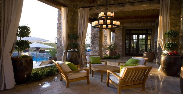 Romantic Porch with Outdoor Chandelier
