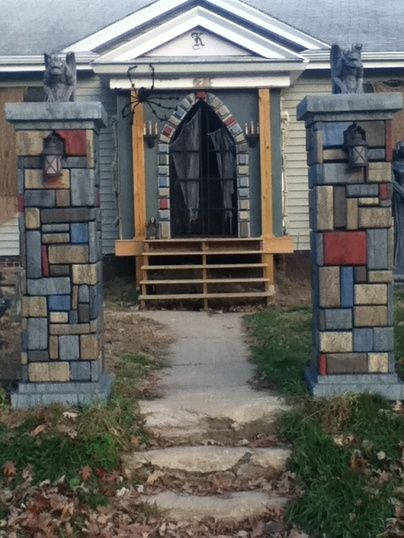 Stone Cemetery Columns : Best images about fences gates pillars on pinterest