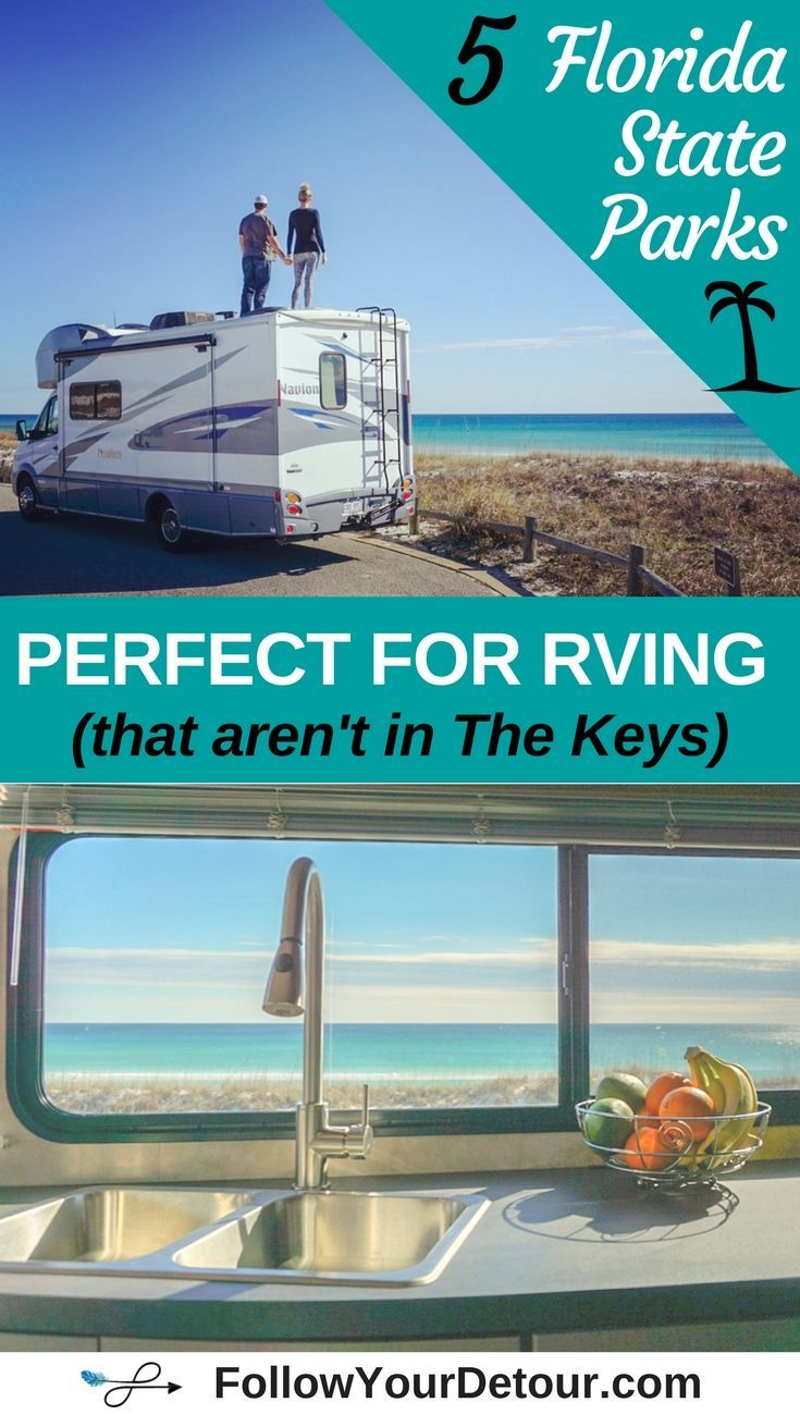 1ecba01a6d6 Florida is the perfect destination for RVing. Here are 5 great  Florida  State Parks with beachfront campgrounds and  RV sites. This blog is a great  resource ...