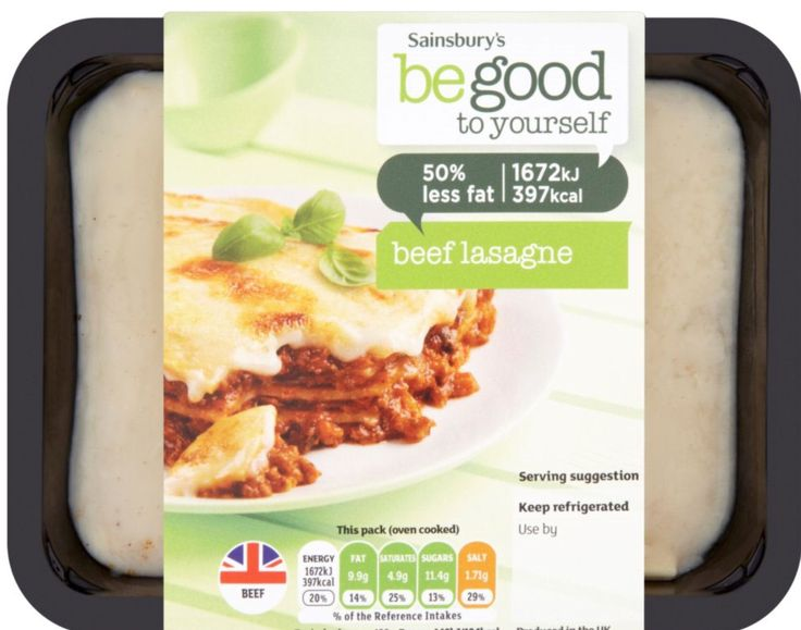 Be Good to Yourself Beef Lasagne, chilled , 390g pack 4½ Syns on EE