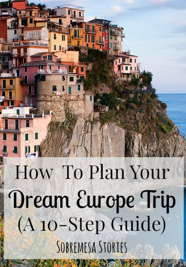 How To Plan Your Dream Europe Trip (A 10-Step Guide) - Sobremesa Stories