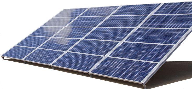 Solar pv panels convert sunbeams into electricity
