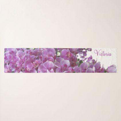 Purple Lilac Orchid Garden Square Chiffon Scarf  $50.24  by Chiffon_Scarves  - custom gift idea
