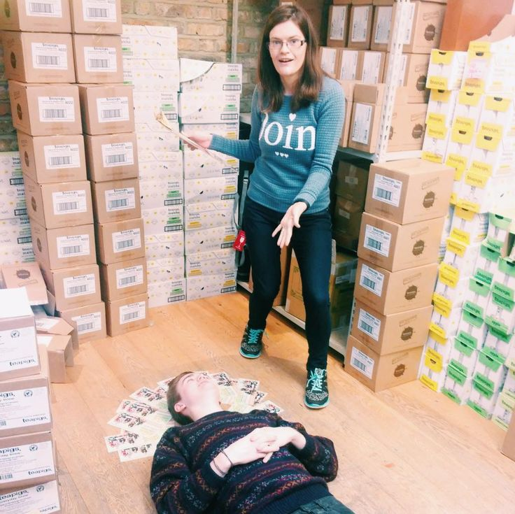 behind the scenes, what are teapigs Becky and Jack doing?!