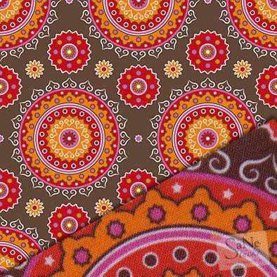 Stoffmuster Pattern Orientalisch braun klein