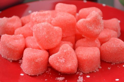 tangerine-ginger sorbet: Valentine'S Day, Valentines Day Cupcakes, Recipe, Sugar Cubes, Raspberries Mint, Mint Sugar, Heart Shaped Foods, Sugar Heart, Sugar Mint