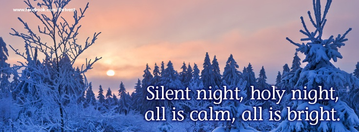 Silent Night Christmas Facebook Cover Photo