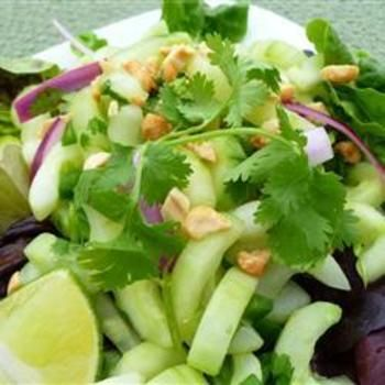Thai Cucumber Salad: Side Dishes, Salad Recipes, Tangy Summer, Food, Thai Cucumber Salad, Thai Salad, Summer Salads, Allrecipes Com, Recipes Salad