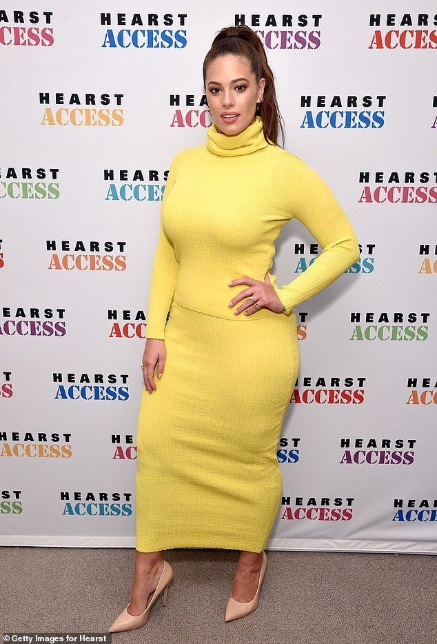 1c38ae83f5 Ashley Graham looks to have lost 20lbs off her 200lb frame when she wore  this dress to the 2018 Hearst MagFront in New York City on Wednesday
