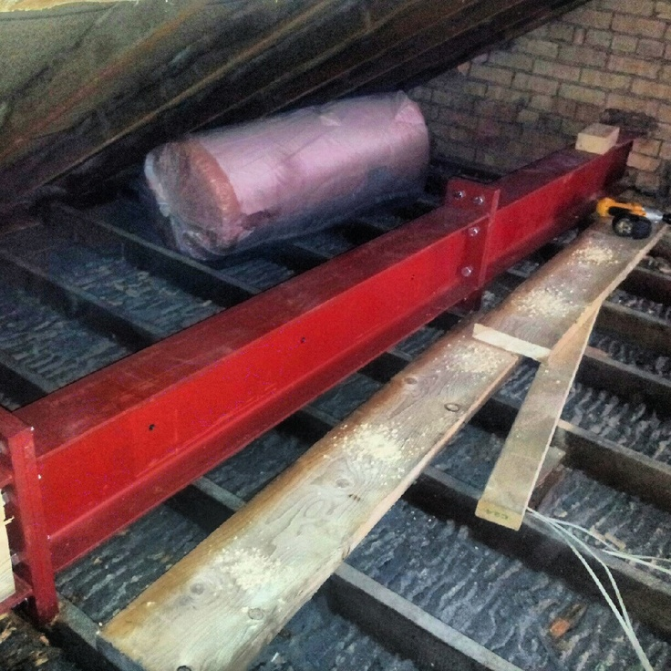 Day 1 Loft Steel Beam Fitted Boys Room Loft Flooring