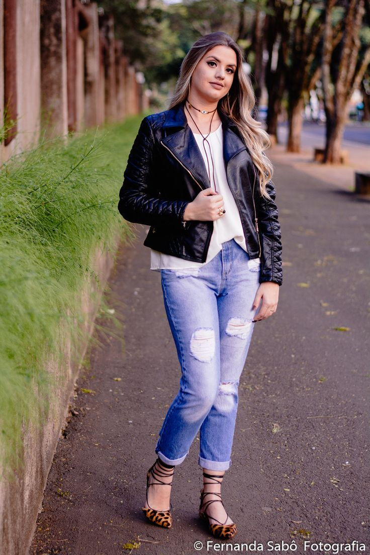 Look casual com jeans destroyed