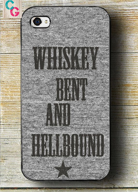 Hank Williams Jr Song Lyrics Phone case  iphone by CowGirlCentral