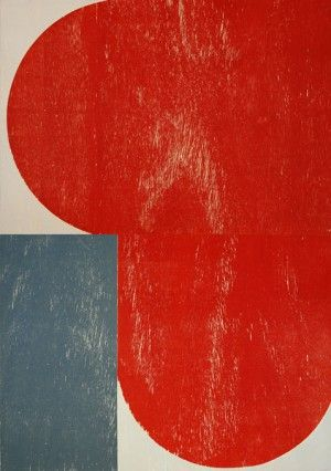 Richard Gorman Print, Big Red,  Print on woodblock, Edition of 40,  €2,100  This is a huge print when you see it in person!