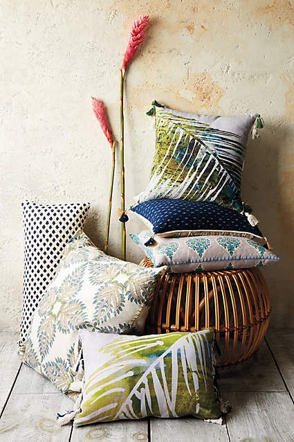Palm Print Pillow ♥ // In need of a detox? 10% off using our discount code 'Pinterest10' at www.ThinTea.com.au