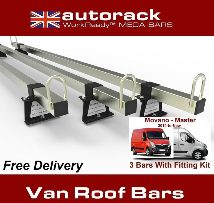 Van Roof Rack 2 Bars RENAULT MASTER 2010-onward current van - Autorack MegaBars #AUTORACKROOFRACKS