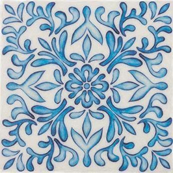 Beautiful blue tile details