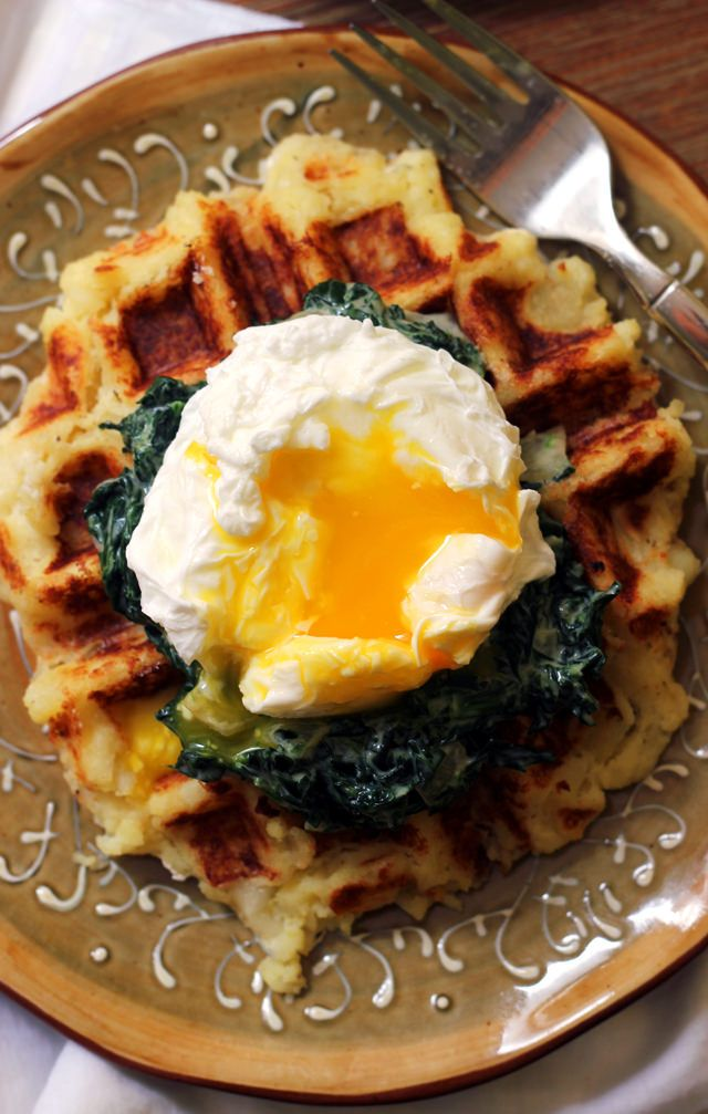 Potato Waffle Eggs Florentine | Joanne Eats Well With Others