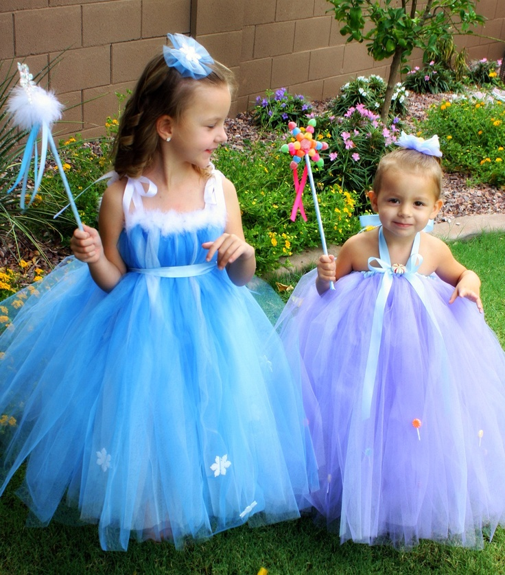 Candyland Princess costumes for Halloween.  Lolly & Frostine.