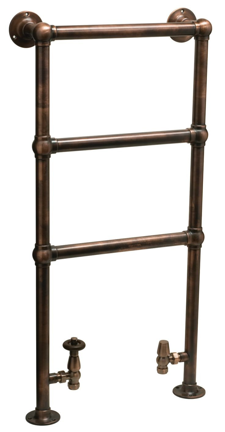 Traditional towel warmers in great antique finishes.