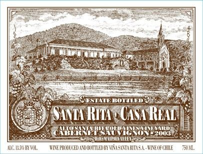 Santa Rita Casa Real Cabernet Sauvignon, Maipo Valley, Chile