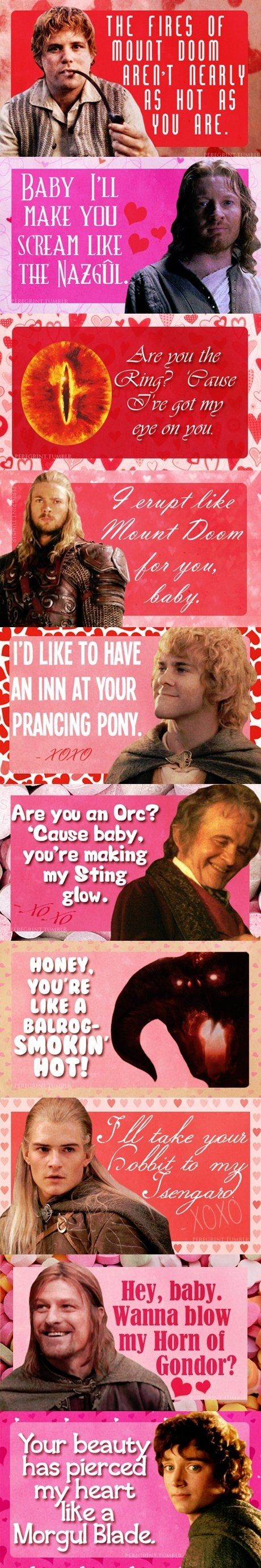 LOTR pick up lines. These are AWESOME!
