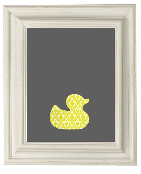 Digital Download No. 296  Rubber Duck Yellow and Gray Print on Etsy, $3.73