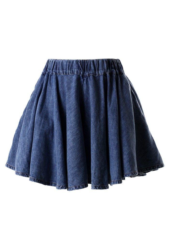 Denim Split Skirt 6