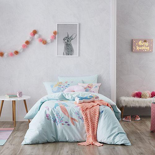 Mermaidia Aqua Quilt Cover Set